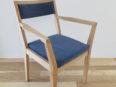肘掛椅子、オーク