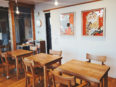 六条山カフェ展示壁